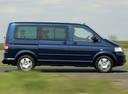 Фото авто Volkswagen Multivan T5, ракурс: 270 цвет: синий