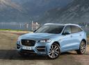 Фото авто Jaguar F-Pace 1 поколение, ракурс: 45 цвет: голубой