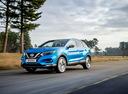 Фото авто Nissan Qashqai 2 поколение [рестайлинг], ракурс: 45 цвет: голубой