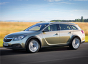 Фото авто Opel Insignia A [рестайлинг], ракурс: 45 цвет: бежевый
