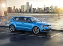 Фото авто Volkswagen Polo 5 поколение [рестайлинг], ракурс: 270 цвет: синий