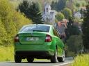 Фото авто Skoda Rapid 3 поколение [рестайлинг], ракурс: 180 цвет: зеленый