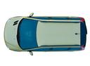 Фото авто Peugeot 206 1 поколение [рестайлинг], ракурс: сверху цвет: сафари