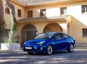 Фото авто Toyota Prius 4 поколение, ракурс: 45 цвет: синий
