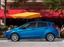 Фото авто Ford Fiesta 6 поколение [рестайлинг], ракурс: 90 цвет: голубой