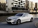 Фото авто Mercedes-Benz CL-Класс C216 [рестайлинг], ракурс: 45 цвет: серебряный