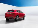 Фото авто Jaguar E-Pace 1 поколение, ракурс: 225 цвет: красный