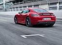 Фото авто Porsche Cayman 982, ракурс: 135 цвет: красный