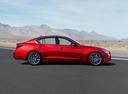 Фото авто Infiniti Q50 1 поколение [рестайлинг], ракурс: 270 цвет: красный