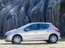 Фото авто Peugeot 207 1 поколение, ракурс: 90 цвет: серебряный