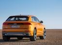 Фото авто Audi Q8 1 поколение, ракурс: 225 цвет: оранжевый