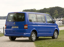 Фото авто Volkswagen Multivan T5, ракурс: 225 цвет: синий