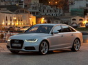 Фото авто Audi A6 4G/C7, ракурс: 45 цвет: серый