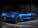 Фото авто Chevrolet Corvette C7, ракурс: 225 цвет: голубой