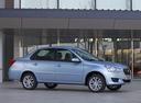Фото авто Datsun on-DO 1 поколение, ракурс: 315 цвет: голубой