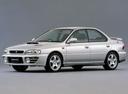 Фото авто Subaru Impreza 1 поколение [рестайлинг], ракурс: 45 цвет: серебряный