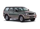 Фото авто Mitsubishi Montero Sport 1 поколение, ракурс: 315 цвет: зеленый