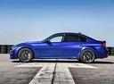 Фото авто BMW M3 F80 [рестайлинг], ракурс: 90 цвет: синий