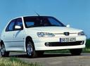 Фото авто Peugeot 306 1 поколение [рестайлинг], ракурс: 315 цвет: белый