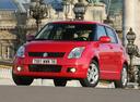 Фото авто Suzuki Swift 3 поколение, ракурс: 45 цвет: красный