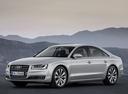 Фото авто Audi A8 D4/4H [рестайлинг], ракурс: 45 цвет: серебряный