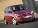 Фото авто Opel Meriva 1 поколение [рестайлинг], ракурс: 315 цвет: красный