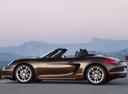 Фото авто Porsche Boxster 981, ракурс: 90 цвет: коричневый