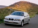Фото авто BMW 5 серия E39 [рестайлинг], ракурс: 45 цвет: серебряный