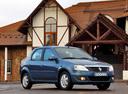 Фото авто Renault Logan 1 поколение [рестайлинг], ракурс: 315 цвет: синий