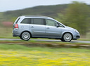 Фото авто Opel Zafira B, ракурс: 270 цвет: серебряный