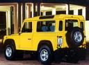 Фото авто Land Rover Defender 1 поколение, ракурс: 135 цвет: желтый