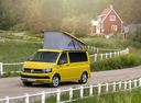 Фото авто Volkswagen California T6, ракурс: 45 цвет: желтый