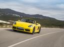 Фото авто Porsche Boxster 982, ракурс: 45 цвет: желтый