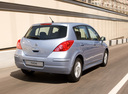 Фото авто Nissan Tiida C11 [рестайлинг], ракурс: 225 цвет: голубой