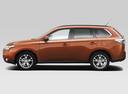 Фото авто Mitsubishi Outlander 3 поколение, ракурс: 90 цвет: оранжевый