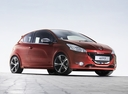 Фото авто Peugeot 208 1 поколение, ракурс: 315 цвет: красный