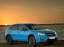 Фото авто Subaru XV 1 поколение [рестайлинг], ракурс: 315 цвет: голубой