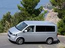 Фото авто Volkswagen Multivan T5 [рестайлинг], ракурс: 90 цвет: серебряный