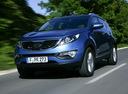 Фото авто Kia Sportage 3 поколение, ракурс: 45 цвет: голубой