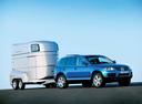 Фото авто Volkswagen Touareg 1 поколение, ракурс: 270 цвет: синий
