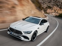 Фото авто Mercedes-Benz AMG GT C190 [рестайлинг], ракурс: 45 цвет: белый