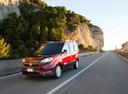 Фото авто Fiat Doblo 2 поколение [рестайлинг], ракурс: 45 цвет: вишневый