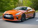Фото авто Nissan GT-R R35 [3-й рестайлинг], ракурс: 45 цвет: оранжевый