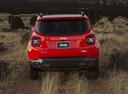 Фото авто Jeep Renegade 1 поколение, ракурс: 180 цвет: красный