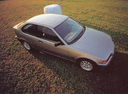 Фото авто BMW 3 серия E36, ракурс: сверху цвет: серебряный