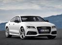 Фото авто Audi RS 7 4G, ракурс: 315 цвет: белый
