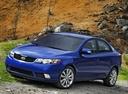 Фото авто Kia Cerato 2 поколение, ракурс: 45 цвет: синий