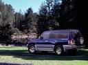 Фото авто Mitsubishi Pajero 2 поколение, ракурс: 135 цвет: синий