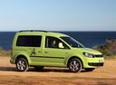 Фото авто Volkswagen Caddy 3 поколение [рестайлинг], ракурс: 180 цвет: зеленый