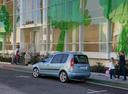 Фото авто Skoda Roomster 1 поколение [рестайлинг], ракурс: 135 цвет: голубой